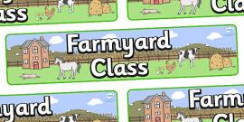 Farmyard Themed Classroom Display Banner