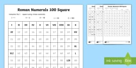 Roman numerals display pack roman numerals fill in the number square worksheet ibookread PDF