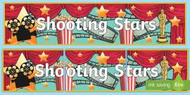 Shooting Stars Display Banner