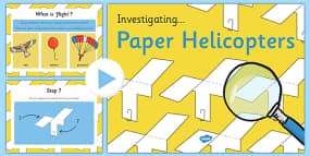 Investigating Paper Helicopters Presentation