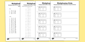 Multiplying 2 Digit Numbers by 1 Digit Numbers Usi...