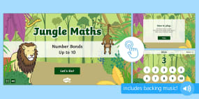 Jungle Maths: Number Bonds up to 10 Game