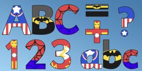 Superhero Alphabet Display...