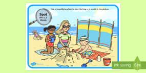 Phase 5 u-e Words Beach Sce...