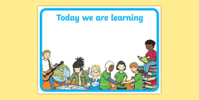 Editable 'We Are Learning T...