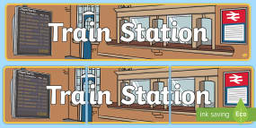 Train Station Display Banne...