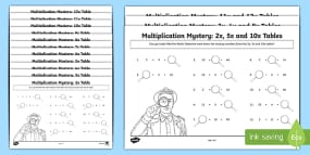 Multiplication Tables Missing Numbers Activity She...