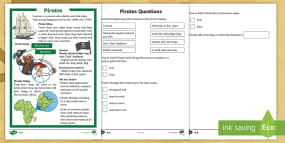 KS1 Pirates Differentiated Reading Comprehension