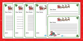Letter to Santa Writing Tem...