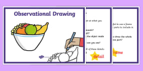 Observational Drawing Tips Display Posters