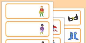 Superhero Classroom Job Cards