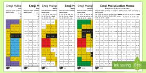 KS1 Emoji Multiplication Mosaic Differentiated Act...