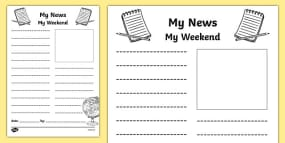 Newspaper Writing Template - writing aid, writing template