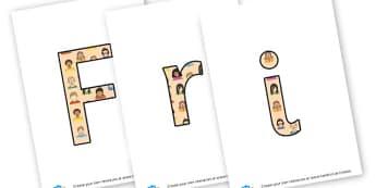 Friendship lettering - display lettering - KS2 Display, PSHE, Friendships and Relationships, KS2 PSHE