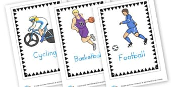 Sports cards - Sports Day Primary Resources, sport, award, reward, sports, PE
