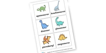 Dinosaurs (1) - Dinosaurs Keywords Primary Resources, letters, phonics, sounds