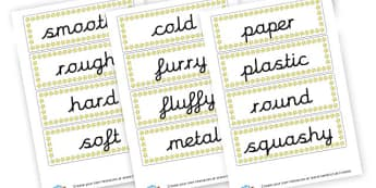Materials Word Cards - Materials & their Properties Primary Resources, Materials, Solids