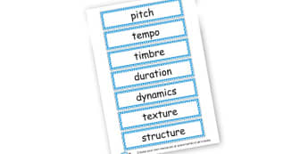 Music Vocab Flashcards - Music Literacy Primary Resources -  Primary Resources, musical in