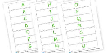 Upper Case Letters Cards - Uppercase Alphabet Formation Primary Resources, alphabet, writing
