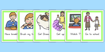 Daily Routines Cards - SEN Daily Routine Resources, Daily Routine, Schedule, Timetable