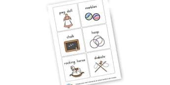 Victorian Toys Flashcards - Victorian Toy Shop Shops and Business Role Play Primary Resources