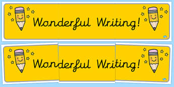 Wonderful Writing Cursive Display Banner - Classroom Banners Primary Resources, Banners, Classroom Signs