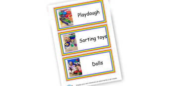 Toy Labels - Toys Classroom Signs and Labels Primary Resources -  Primary Reso