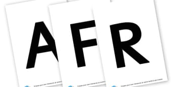 African Masks - display lettering - Africa Labels Primary Resources, continent, east africa