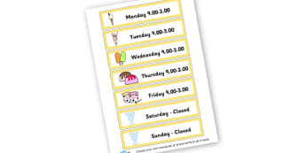 Ice Cream Opening Times - Ice Cream Parlour Primary Resources, shop, parlour, ice cream shop