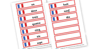 French Numbers - French, Numeracy,  Langauge Primary Resources,  MFL, French, fran