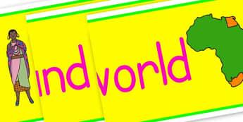 Around the World Display Banner - KS2 Around the World, Geography, Around the World, KS2 Geography