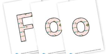 Food Chains - Display Lettering - Primary Resources, food, animals, food web, carnivore