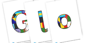 Global Citizenship - display lettering - Display Resources Citizenship Secondary Resources - Key Stage 3 D