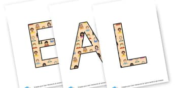EAL - Display Lettering - EAL & ESL Primary Resources, English as an additional language