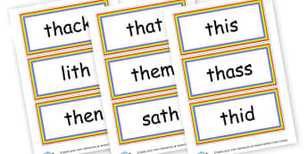 Th Words Cards - Initial Blends Primary Resources, initial letter, letter blend