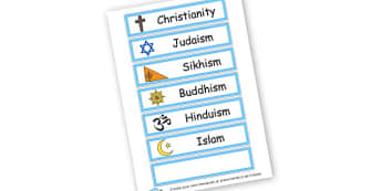 Religion Word Cards - General, Classroom Signs and Labels, Religion, General,  Primary