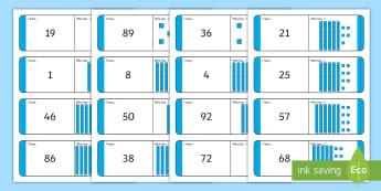 Numbers 1-100 with Dienes Loop Cards - Numbers 1-100 with Dienes Loop Cards - numbers, 1-100, loop cards, dienes,numbes,nubers,diennes,base