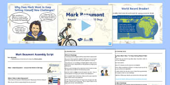 F-2 Around the World in 80 Days Assembly Pack - Mark Beaumont, Cycling, Challenge, World Record, Australian Curriculum, Australia, F-2, Maths, Assem