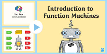 Introduction to Function Machines Second Level PowerPoint - Equation, expressions, missing, number, algebra,,Scottish