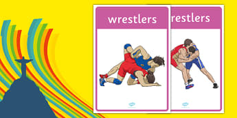 The Olympics Wrestling Display Posters - wrestling, Olympics, Olympic Games, sports, Olympic, London, display, banner, poster, sign, 2012, activity, Olympic torch, medal, Olympic Rings, mascots, flame, compete, events, tennis, athlete, swimming