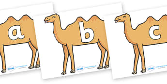 Phoneme Set on Camels - Phoneme set, phonemes, phoneme, Letters and Sounds, DfES, display, Phase 1, Phase 2, Phase 3, Phase 5, Foundation, Literacy