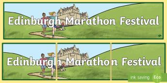 Edinburgh Marathon Festival Banner - CfE Edinburgh Marathon (27th of May), marathon, edinburgh, sports, events, scotland,Scottish