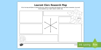 Laurent Clerc Research Map - deaf education, deaf history, deaf culture, deaf identity, deaf role models, deaf famous people, dea