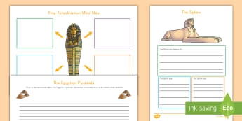 Ancient Egypt Graphic Organizers Activity Pack - Egypt, King Tut, writing, pyramids, egyptians, pharoahs, sphinx, history