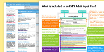 EYFS Dinosaurs Adult Input Planning and Resource Pack Overview