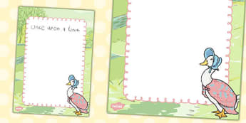 The Tale of Jemima Puddle-Duck Editable Notes - jemima puddle-duck