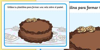 Tapiz de plastilina Pastel de cumpleaños - números, formación