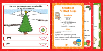 EYFS Christmas Postman Playdough Recipe and Mat Pack - The Jolly Christmas Postman, Allan and Janet Ahlberg, playdough, playdough mats, Christmas playdough