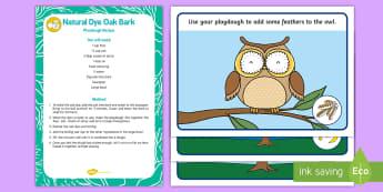 Owl-Themed Playdough Recipe and Mat Pack - EYFS Owlets, Owl Babies, Martin Waddell, fine motor skills, animals, woods, forests, birds, owl, owl