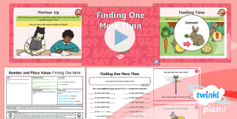 Y1 Number and Place Value One More and One Less to 20 (1) Lesson Pack - one more, one less, more, less, finding, year 1, year one, ks1, maths, powerpoint, ppt, lesson plan,